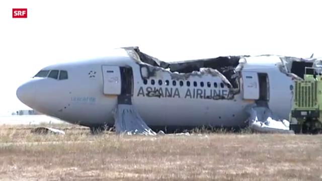 Nach der Notlandung der Boeing 777 in San Francisco