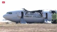 Video «Nach der Notlandung der Boeing 777 in San Francisco» abspielen