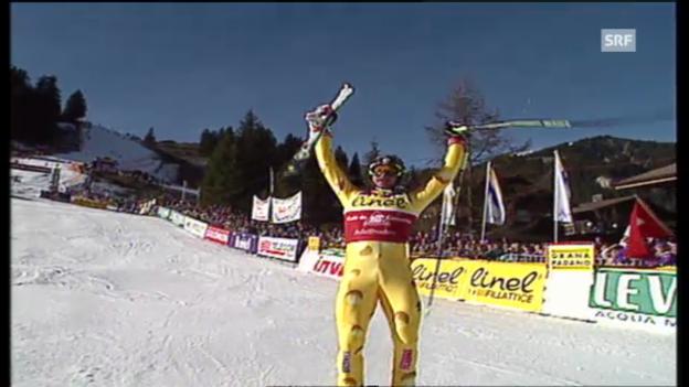 Video «1996: Der Riesenslalom-Triumph von Michael von Grünigen» abspielen
