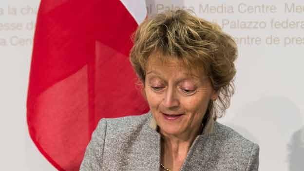 Bundesrätin Eveline Widmer-Schlumpf zur Pauschalbesteuerung