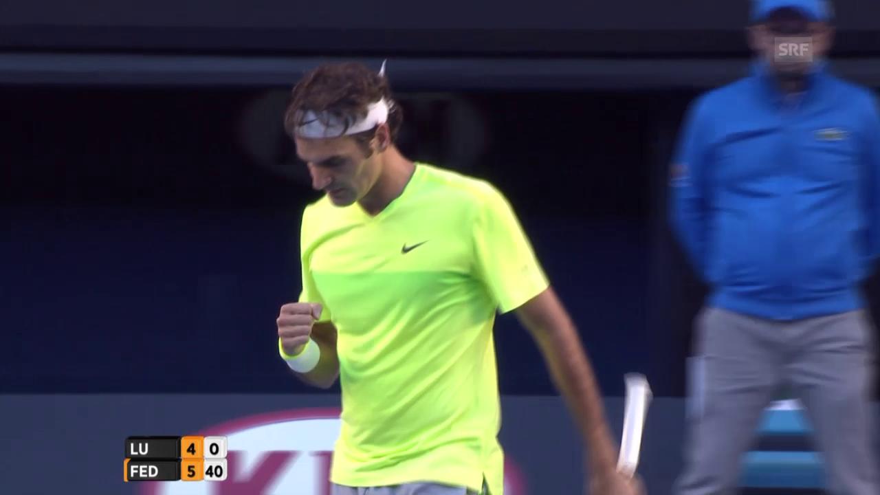 Tennis: Highlights Federer - Lu