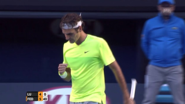 Video «Tennis: Highlights Federer - Lu» abspielen
