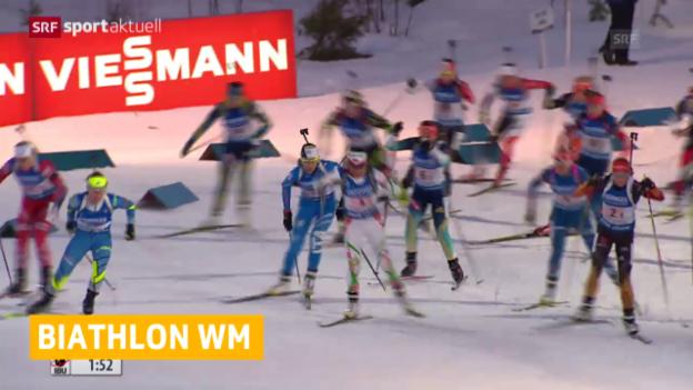 Video «Biathlon: Schweizer Frauen-Staffel enttäuscht» abspielen