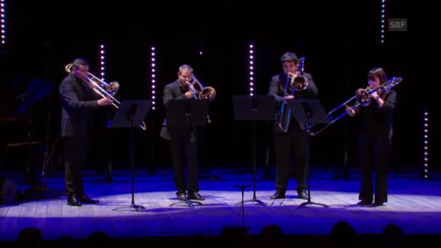 Video «Musikeinlage: Quatuor Trombone» abspielen
