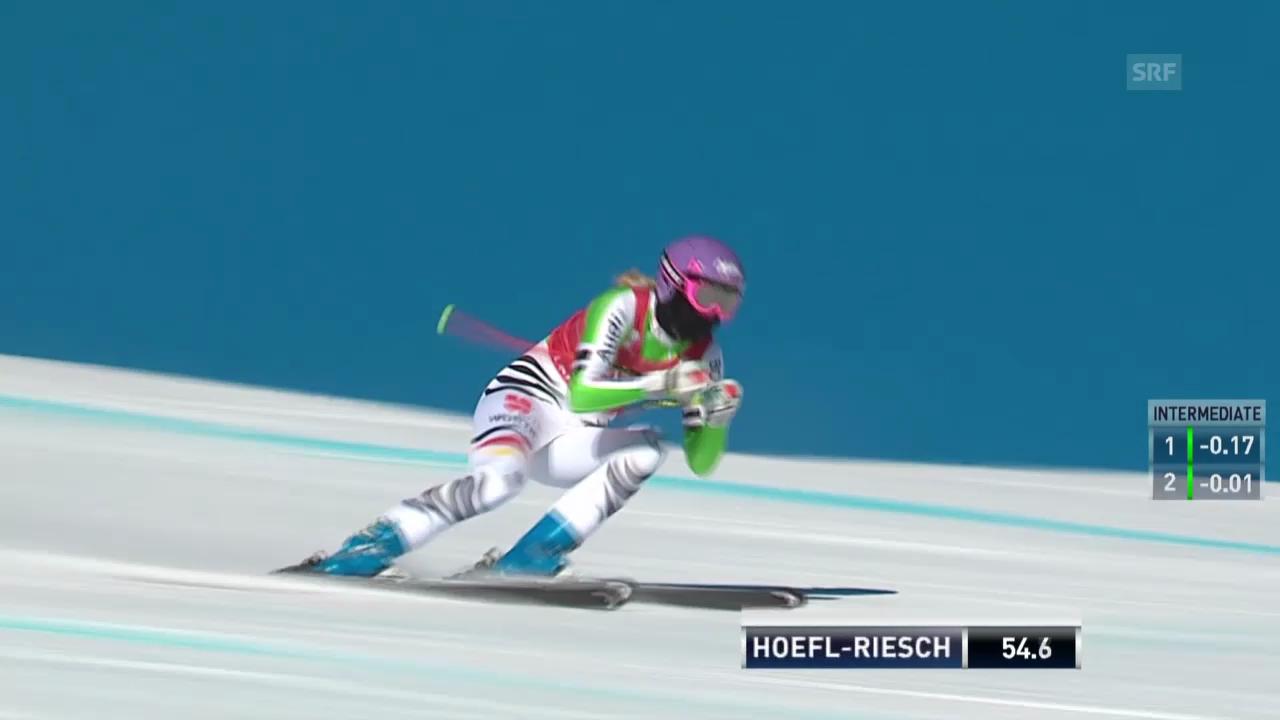 Ski: Die Fahrt von Maria Höfl-Riesch in Lake Louise