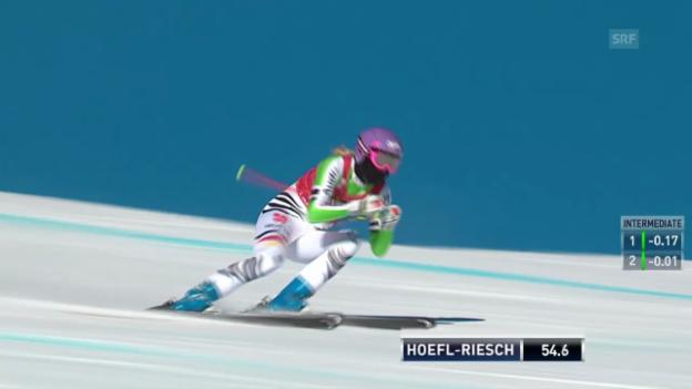 Video «Ski: Die Fahrt von Maria Höfl-Riesch in Lake Louise» abspielen