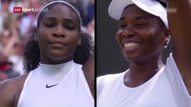 Video «Williams-Schwestern in Wimbledon im Hoch» abspielen