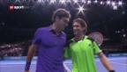 Video «Tennis: Federer schlägt Ferrer» abspielen
