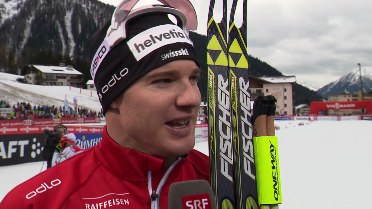 Langlauf: Weltcup Davos, Skating-Sprint, Interview mit Dario Cologna
