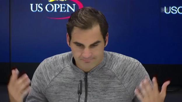 Video «Auszüge aus Federers Medienkonferenz (engl.)» abspielen