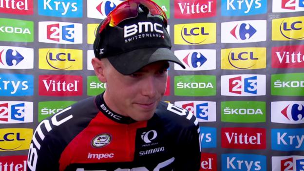 Video «Rad: Tour de France 2015, 1. Etappe, Einzelzeitfahren, Rohan Dennis im Interview» abspielen