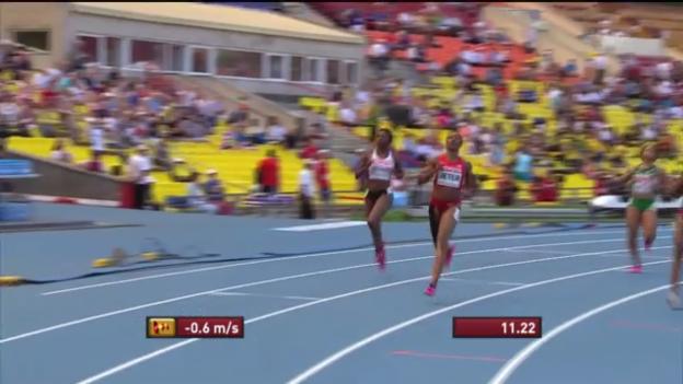 Video «100-m-Vorlauf von Carmelita Jeter» abspielen