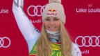Video «Ski alpin: Super-G Frauen, Lake Louise, Rennbericht» abspielen