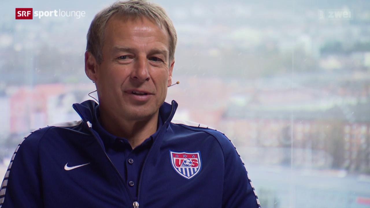 Jürgen Klinsmann im Gespräch