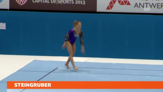 Video «Kunstturnen: Steingruber in 3 Finals» abspielen
