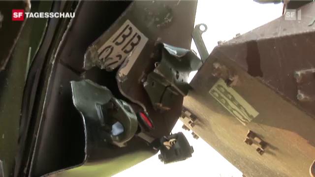 Armeepanzerunfall in Bure (JU)