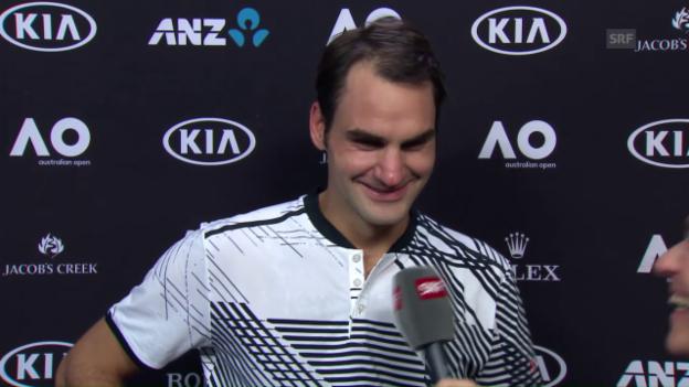 Video «Federer: «Ich dachte, heieiei, das wird knapp»» abspielen