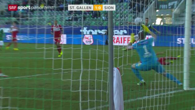 Video «Spielbericht St.Gallen - Sion («sportpanorama»)» abspielen