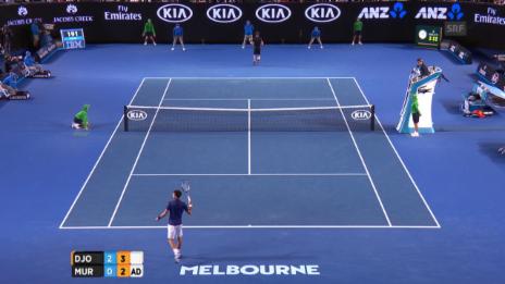 Video «Murray schafft das Rebreak im 3. Satz» abspielen