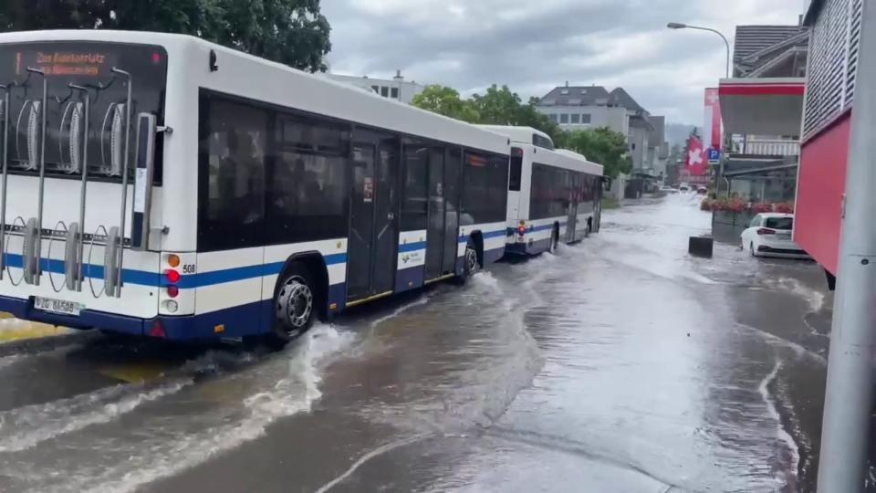 25. Juli: Überschwemmung in Unterägeri/ZG, Peter Bumbacher