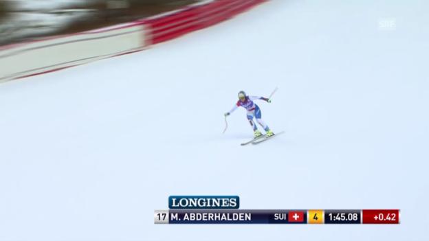 Video «Ski: Die Fahrt von Marianne Abderhalden in Val d'Isere» abspielen