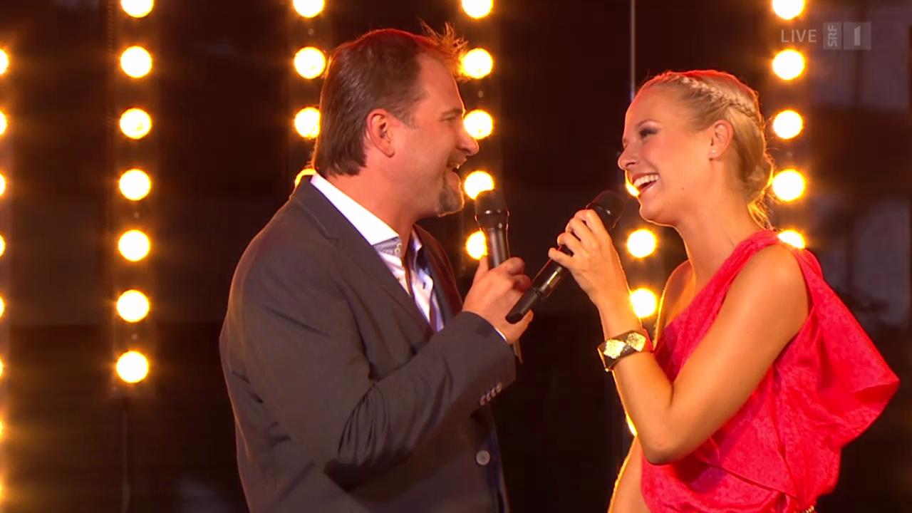 Stefan Roos und Linda Fäh mit «Fang das Licht»