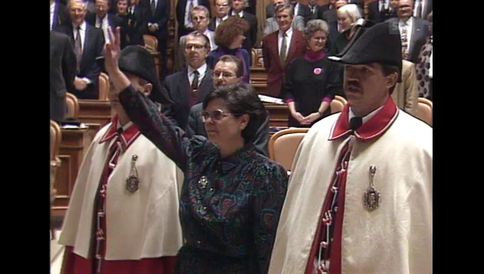 Der 100. Bundesrat ist eine Frau: Ruth Dreifuss