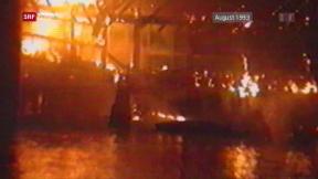 Video «Vor 25 Jahren: Brand der Luzerner Kapellbrücke» abspielen