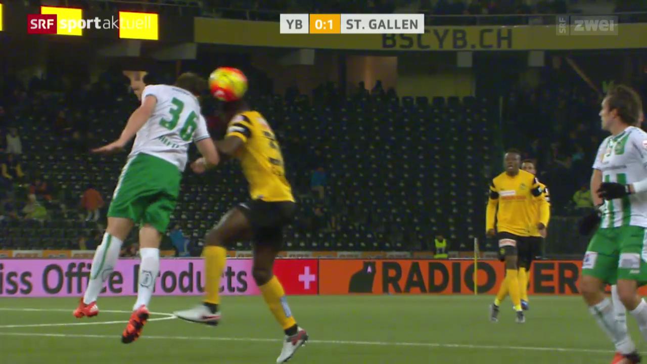 Fussball: YB-St. Gallen