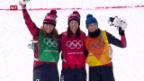 Video «Bronze für Fanny Smith im Skicross» abspielen