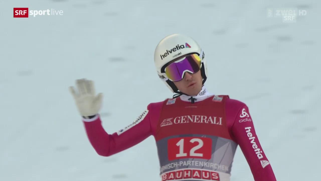 Skispringen: Neujahrsspringen Garmisch, 2. Durchgang Simon Ammann