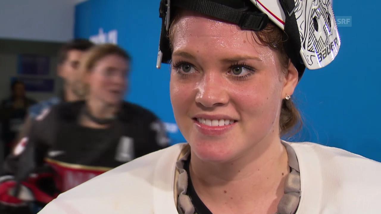 Eishockey, Frauen, Kanada-Schweiz, Interview Schelling (sotschi direkt, 8.2.2014)