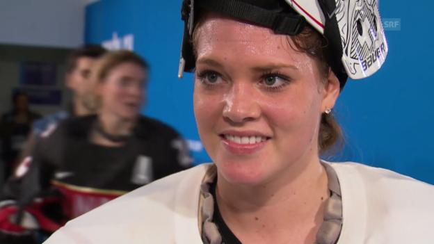 Video «Eishockey, Frauen, Kanada-Schweiz, Interview Schelling (sotschi direkt, 8.2.2014)» abspielen