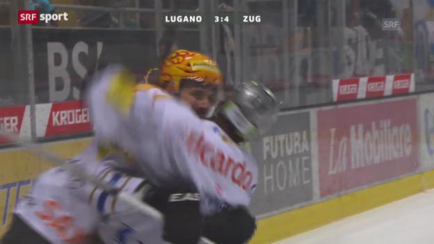 Video «NLA: Zusammenfassung Lugano - Zug («sportaktuell»)» abspielen