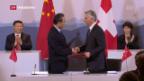 Video «Auf bilateralem Vorwärtskurs mit Xi Jingping» abspielen
