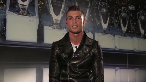 Video «Ronaldo erneuert bei Ehrung Syrien-Appell» abspielen