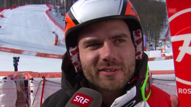 Video «Ski Alpin: Super-G Sotschi, Interview mit Jan Hudec (sotschi direkt, 16.2.2014)» abspielen