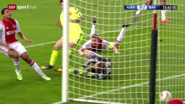 Video «Fussball: Champions League, Ajax-Barcelona» abspielen