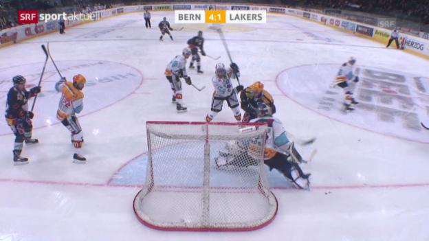 Video «Eishockey: Platzierungsrunde: Bern-Lakers («sportaktuell», 15.3.14)» abspielen