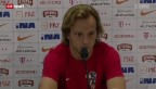 Video «Fussball: Kroatien vor dem Eröffnungsspiel» abspielen