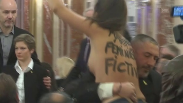 Video ««Femen» macht mobil gegen Le Pen» abspielen