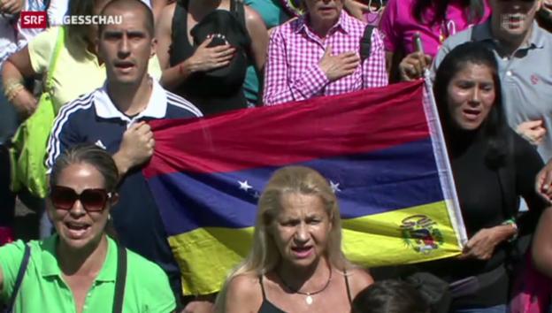 Video «Proteste auf den Strassen von Caracas» abspielen
