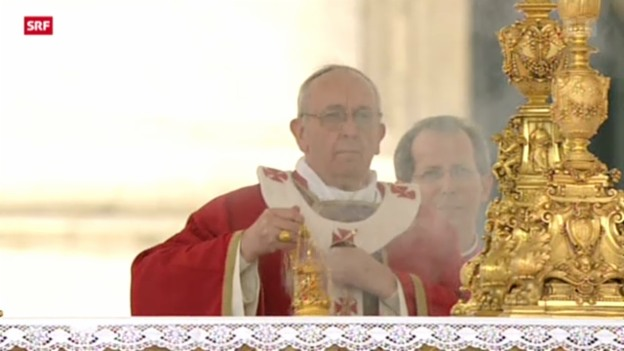 Video «Papst feiert Palmsonntagsmesse» abspielen