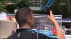 Video «Grosse Vorfreude bei Buemi vor dem Heim-GP» abspielen