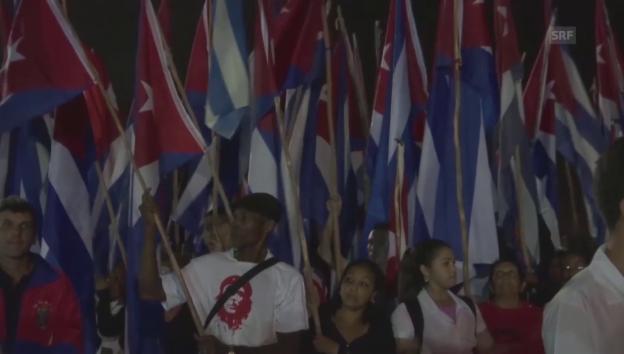 Video «Trauerzug für Fidel Castro in Santa Clara» abspielen