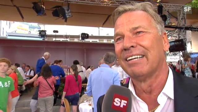 Kurt Zurfluh nach seiner letzten Sendung