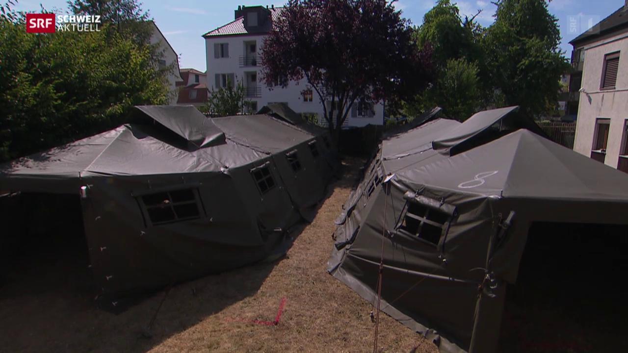 Armeezelter für Asylsuchende
