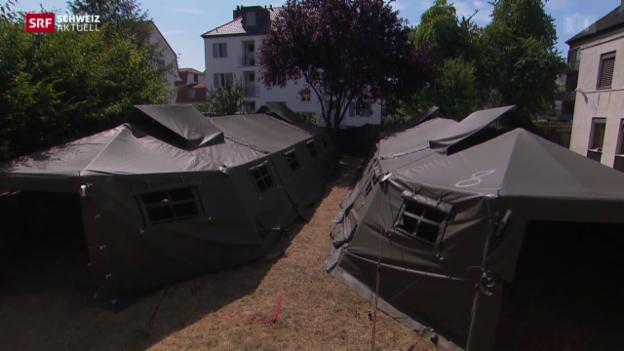 Video «Armeezelter für Asylsuchende» abspielen