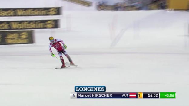 Video «Ski: Der 1. Lauf von Marcel Hirscher in Levi» abspielen