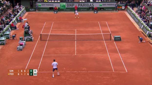 Video «Highlights Federer-Simon» abspielen